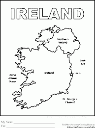 Small Picture Map Of Ireland Coloring Page Coloring Pages For Kids Pinterest