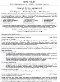 Executive Director Resume Non Profit Free Resume Templates 2018