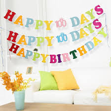 happy birthday color letters scroll birthday party non woven hanging decoration handmade bunting banner birthday gift favors sd459 balloon party decoration