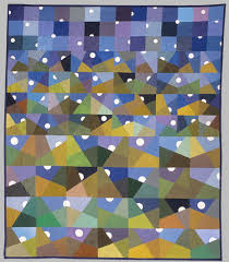 Carol Anne Grotrian, When Moons Come Over Mountains, Bed Quilt & Moons Over Mountains Quilt Adamdwight.com