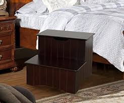 Amazon Kings Brand Cherry Finish Wood Bedroom Step