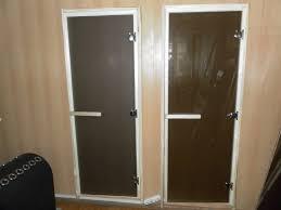 door for a sauna glass