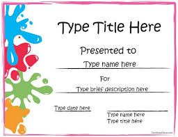 Award Certificate Template Free Sports Certificate Art Award Certificate Certificatestreet Com