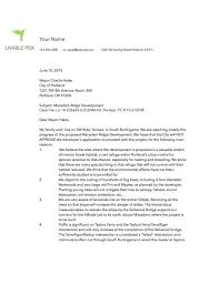 sample letter livable pdx a sample letter to help you start your own