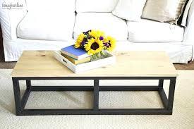 easy diy coffee table industrial table easy diy round coffee table