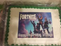 Fortnite Personalized Birthday Edible Frosting Image 14 Sheet Cake