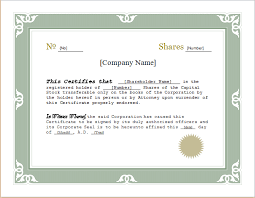 download stock certificate template customizable stock certificate template for word document hub