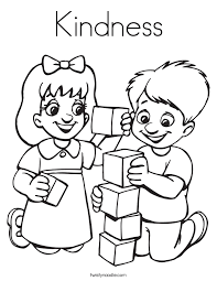 Small Picture Kindness Coloring Page Twisty Noodle