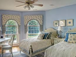 Dekorative Hängende Ventilator Mit Licht Blau Wandfarbe Farbe Weiß