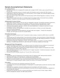 Sample Resume Accomplishments Gallery Creawizard Com