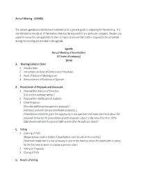 Meeting Agenda Sample Doc New General Meeting Agenda Sample Templates Template Notice Shareholders