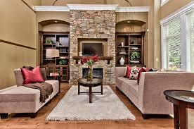 Clay Living Room Traditional With Crystal Chandelier Two Story Two Story Fireplace