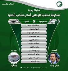 تشكيل السعودية الرسمي لمواجهة ألمانيا ودياً - كورة