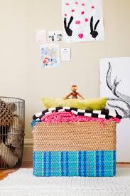 diy modern tartan blanket basket with