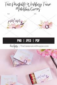 free matchbox wedding favors