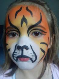 tiger face paint by snamoey aurora