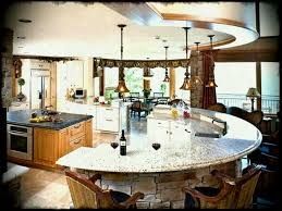 picturesque island kitchen modern. Affordable Luxurious Kitchen Decoration In Beach House With Modular Curved Granite Island As Well Bar Amazing Picturesque Modern R