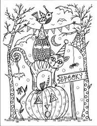 Small Picture Detailed Halloween Coloring Pages FunyColoring