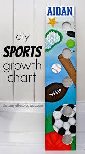 Diy Sports Themed Growth Chart Jaime Costiglio