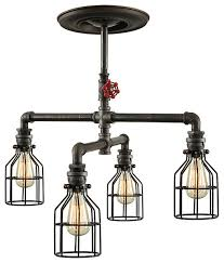 caged lighting. steampunk caged ceiling light industrialceilinglighting lighting l