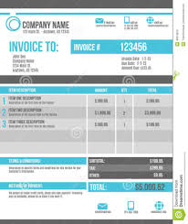 design a invoice template for publishing services project blank customizable invoice template design stock vector image 40674810 graphic blank blue invoice template design template large