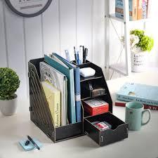 diy office supplies. Desktop Organiser Storage Cabinet DIY Home Office Supplies Black File Holder Diy S
