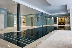 Classic L-shaped indoor pool