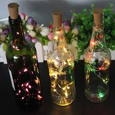 details about 15 led string lights creative wine bottle stopper light home pub decorate lamp
