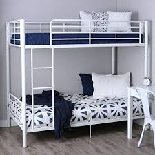 twin bunk beds white. Simple Beds Walker Edison TwinOverTwin Metal Bunk Bed White In Twin Beds