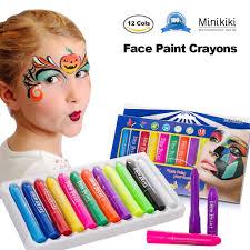 minikiki face paint crayons face painting kits 12 cols paint kids face