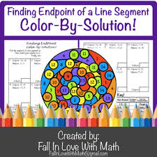 Endpoint Formula Finding Endpoint Of A Line Segment Using Midpoint Formula Color By Number