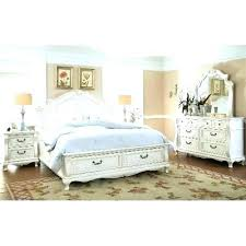 White King Bedroom Set Seaside Lodge 2 Piece Hand Rubbed White King ...