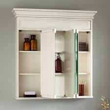 Misschon Tri View Medicine Cabinet Antique White Bathroom