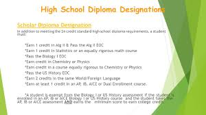sophomore fall workshop agenda  graduation  scholar diploma designation in addition to meeting the 24 credit standard high school diploma requirements