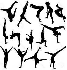 vault gymnastics silhouette8 silhouette