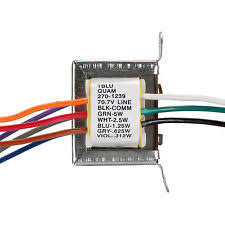 how to wire a multi tap transformer quam tblu 5w 25 70v line transformer multi tap