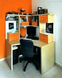 bestar hampton 1 drawer l shaped corner workstation computer desk modern with hutch sand granite charcoal