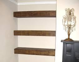 chunky floating shelf wood shelves diy wooden chunky wooden floating shelves