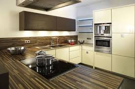 dark wood modern kitchen cabinets. Kitchen, Blue Dining Table With White Top Chrome Single Hole Faucet Beige Ceramic Flooring Tiled Dark Wood Modern Kitchen Cabinets O
