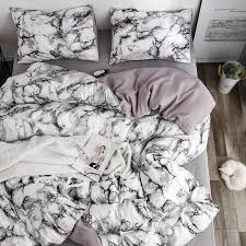 2019 white marble pattern bedding sets duvet cover set 2 single queen king size bed linen quilt cover no sheet no filling from oopp 43 1 dhgate com