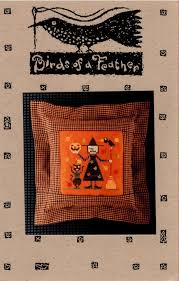 Birds Of A Feather Halloween Holiday Oop Chart Cross