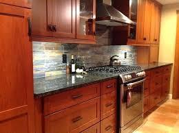 kitchen backsplash cherry cabinets black counter. Kitchen Backsplash Cherry Cabinets Black Counter With Remodel Tile Ideas A