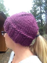 Ponytail Hat Knitting Pattern Mesmerizing Ravelry Quick Ponytail Hat Pattern By Kristina Cotterman
