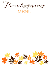 thanksgiving day menu template current event annual holiday party invitation template