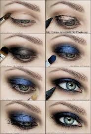 metallic blue smokey eyeshadow