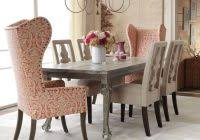 artistic high back dining chairs glamorous wingback chairs in dining room traditional with wing chair