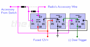 latch relay wiring diagram special applications spdt relays radio on until door opened