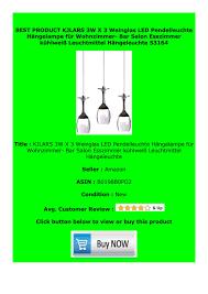 Best Buy Kjlars 3w X 3 Weinglas Led Pendelleuchte H