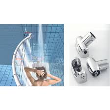 custom length curved shower curtain rod swivel bracket
