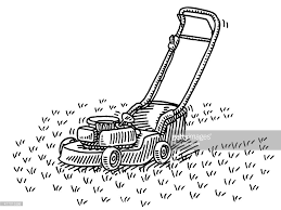 lawnmower drawing. lawn mower gardening drawing lawnmower w
